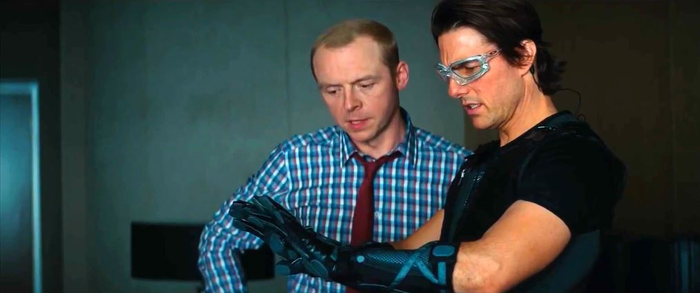 Simon Pegg and Tom Cruise Mission Impossible