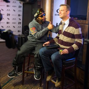 PARK CITY, UT - JANUARY 17:  DJ Lil Jon (L) attends Oakley Learn To Ride With AOL At Sundance Day 1 on January 17, 2014 in Park City, Utah.  (Photo by Michael Stewart/Getty Images for Oakley)