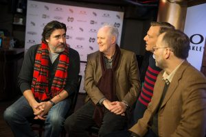 PARK CITY, UT - JANUARY 18:  Actors Alfred Molina (L) and Jon Lithgow attend Oakley Learn To Ride With AOL at Sundance on January 18, 2014 in Park City, Utah.  (Photo by Michael Stewart/Getty Images for Oakley)