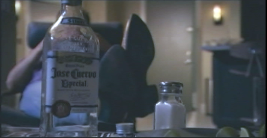 Dexter scene with Jose Cuervo bottle product placement